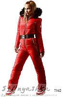 Красный лыжный комбинезон , фото 1