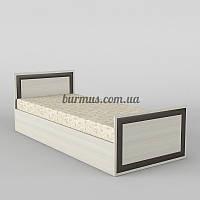 Односпальная кровать КР-102, дуб молочный