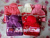 """Детская зимняя шапка на флисе  """"Мики"""" на девочку. Разные цвета. Оптом., фото 1"""
