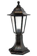 Парковый светильник на ножке 6 стекол НГ 06 Бронза