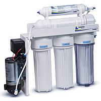 Фильтр осмос 6 ступеней с насосом  Leader Standard RO-6 bio pump