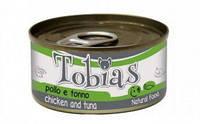 Tobias Chicken and Tuna  85гр*12шт -консерва для собак (курица и тунец)