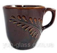Кружка 350 мл ''Сумы'' рифленка коричневая  1 шт.