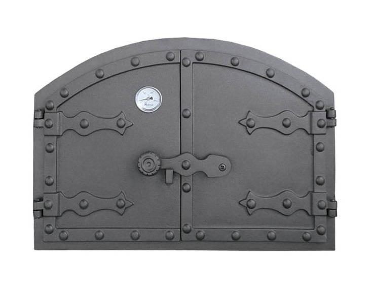 Дверка для хлебной печи с термометром (52,5x35,5 см/50х32,5 см)
