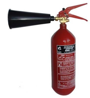 Перезарядка и ТО углекислотных огнетушителей ВВК-1,4 (ОУ-2)