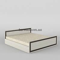 Кровать двуспальная КР-103, дуб молочный