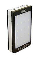 Портативное зарядное устройство Power Bank Solar + Led 15000 mAh, фото 1