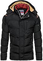 Мужская зимняя  куртка пуховик с капюшоном