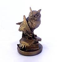 Статуэтка  Сова с пером бронза