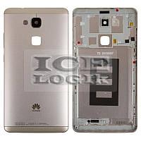 Задняя панель корпуса для мобильного телефона Huawei Ascend Mate 7, золотистая, без лотка SIM-карты,