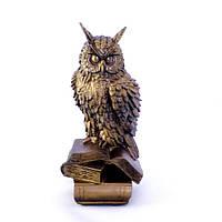Статуэтка Сова на книге бронза