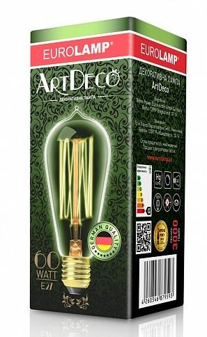 Лампа накаливания декоративная Капля 60Вт Е27  2700K dimmable ArtDeco