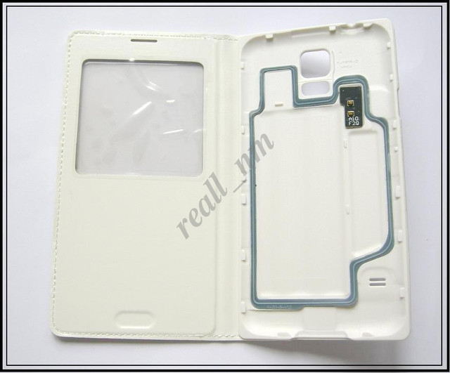 белый чехол s view Samsung Galaxy S5
