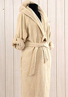 Халат с капюшоном бамбуковый  Irya Classy бежевый размер l/xl