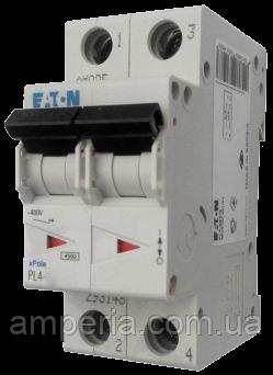 Eaton/Moeller 4kA PL4-C50/2 50А, 2-полюсный автоматический выключатель, фото 2