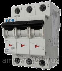Eaton/Moeller 4kA PL4-C6/3 6А, 3-полюсный автоматический выключатель