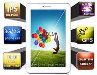"7"" Планшет навигатор Freelander PX1 White GPS 4 ядра, 2sim/3G, 5мп камера IPS экран"