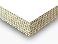Фанера ламинированная белым цветом березовая ФСФ 2500х1250х18 мм.