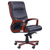 Кресло руководителя Монтана высокая спинка, кожа Люкс