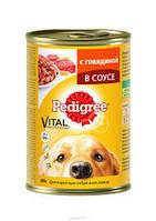 Pedigree 400г-консерва с говядиной в желе для взрослых собак