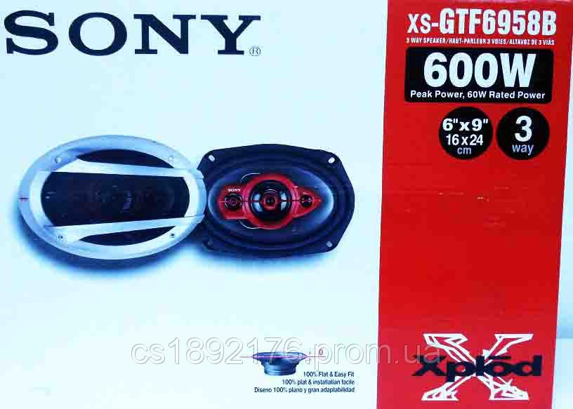 SONY XS-GTF6958 (600Вт) - трехполосные динамики (овалы)