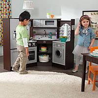 Детская кухня угловая KidKraft Espresso 53365
