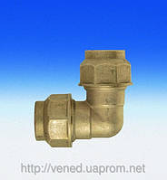 Трубное угловое  соединение для полиэтиленовых труб 32х32 (ц-ц)