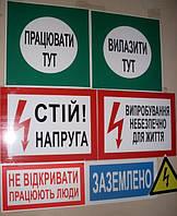 Плакаты и знаки электробезопасности