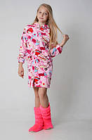 Модный халатик из махровой ткани 2053