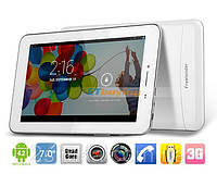 Планшет навигатор Freelander PX1 White GPS 4Ядра, IPS экран + 2Sim/3G, 5мп +Чехол