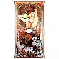Тарелка декоративная художника Альфонс Мария Муха 'Аметист' 46х24 см.