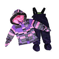 Зимний костюм для девочки PELUCHE 40 BF M F16  Lavander. Размеры 75 - 98.