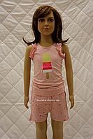 Комплект детский для девочки майка+шорты Мороженое