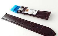 Ремешок Hightone, кожаный, анти-аллергенный, темно коричневый