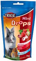 Витаминное лакомство для грызунов Trixire Mini Drops, 75 гр клубника