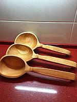 """Ложка дерев'яна ручної роботи черешня для сауни та бані """"Велика"""""""