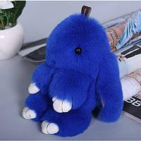 Брелок  Кролик меховой Синий в стиле Рекс Фенди  Большой, фото 1