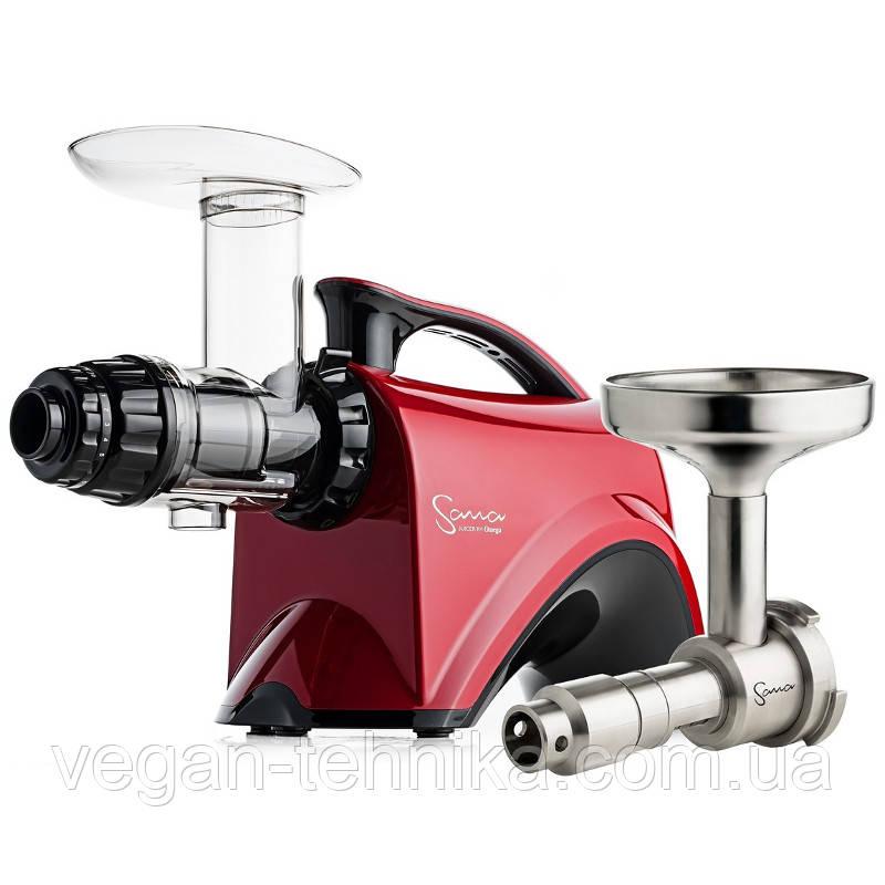 Шнековая соковыжималка Sana EUJ-606 Red + маслопресс Sana Oil Extractor EUJ-702