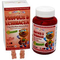 Детские витамины для иммунитета,  с прополисом и эхинацеей,  Vitamin Friends, 60 пектиновых мишек