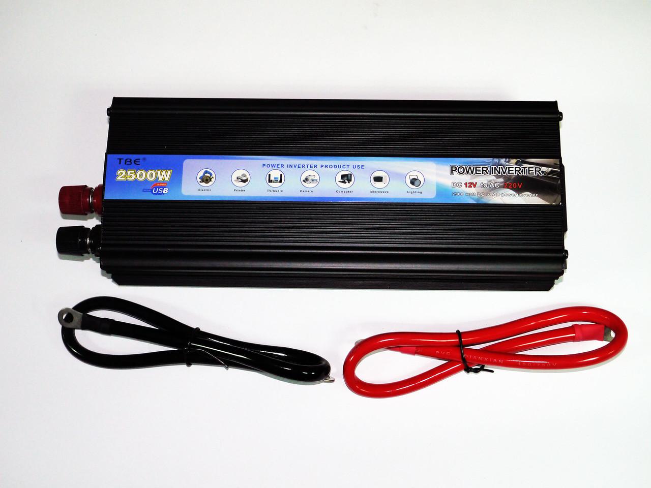 Преобразователь напряжения, инвертор 12V-220V 2500W