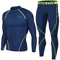 Комплект Take Five warming рашгард + компрессионные штаны синий