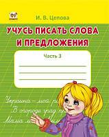Прописи 4+: Учусь писать слова и предложения  рос. 32стор., мягк.обл. 165х205 /50/
