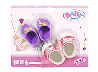 Обувь для куклы BABY BORN - СТИЛЬНАЯ ПРОГУЛКА 4 набора, в ассортименте (822159)