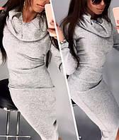 Платье-хомут, ангора, серый