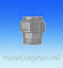 """Трубное прямое соединение для полиэтиленовых труб D20x1/2""""(гайка-цанга)"""