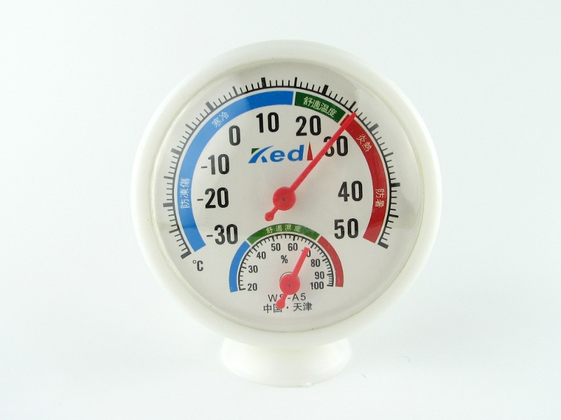 Гигрометр-термометр механический настольный влагомер градусник