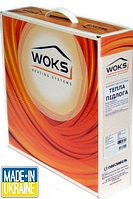 Тонкий двухжильный нагревательный кабель Woks 10, 300 Вт, площадь обогрева 2,0 — 3,8 м²