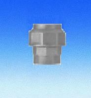 """Трубное прямое  соединение для полиэтиленовых труб D63x2""""(гайка-цанга)"""