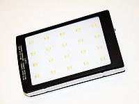 Power Bank Солнечная панель 15000 mAh - 2 USB Фонарик метал.корпус