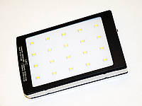 Power Bank Сонячна панель 15000 mAh - 2 USB Ліхтарик метал.корпус